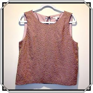 Paper Crown Beaded Sleeveless Top in Mauve Size LP